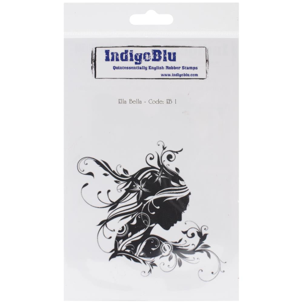 "IndigoBlu Cling Mounted Stamp 7""X4.75"" - Ella Bella"