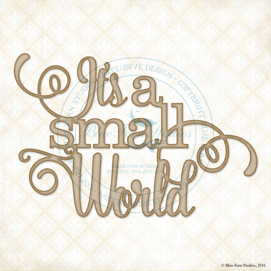 Blue Fern Studios - Chipboard - Small World