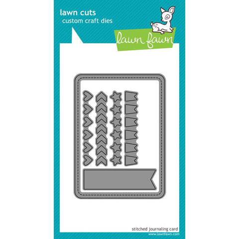 Lawn Cuts Custom Craft Die - Stitched Journaling Card