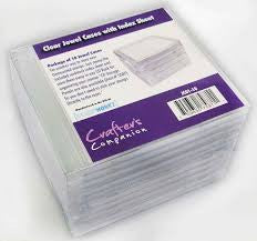 Crafters Companion - Clear Jewel Case with Index Page (use with Jewel Case Storage Panels)