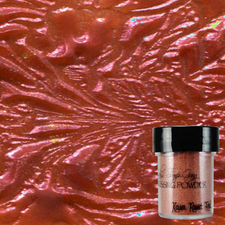 Lindy's Stamp Gang Embossing Powder - Kaiser Russet Red