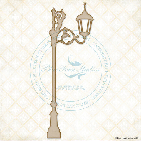 Blue Fern Studios - Chipboard - Lane Lamp Post