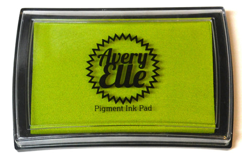 "Avery Elle Pigment Ink Pad - Lemon Grass  3 1/2"" x 2 1/2"""