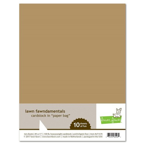 Lawn Fawn - Fawndamentals Cardstock - Paper Bag - 10 Pack