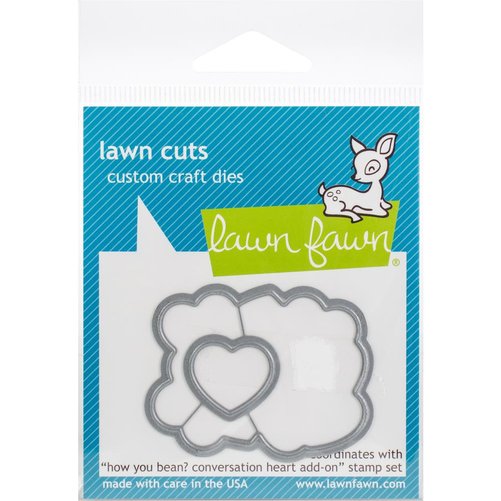 Lawn Cuts Custom Craft Die-- How you bean Conversation heart add on