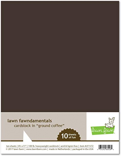 Lawn Fawn - 8.5 x 11 Cardstock - Ground Coffee - 10 Pack