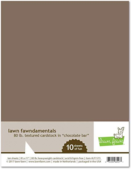 Lawn Fawn - 8.5 x 11 Cardstock - Chocolate Bar - 10 Pack