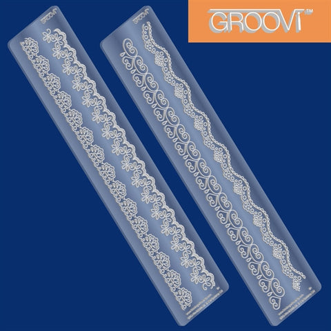 "Clarity Stamp -  GROOVI Border Plates - ""Lace Set 1 & 2"""