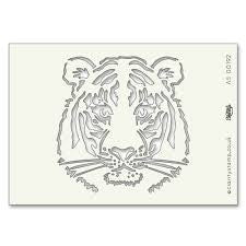 Clarity Stamp - Tiger Stencil A5