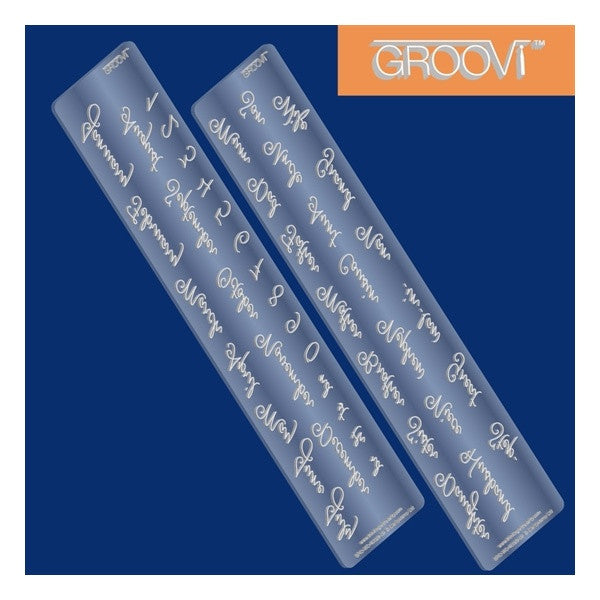 Clarity Stamp - Calendar and Relatives Names Groovi Border Plate Set