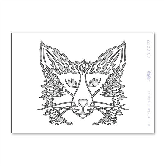 Clarity Stamp - Fox Stencil A5
