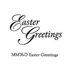 Clarity Stamp - Clear Stamp - Easter Greetings (Unmounted)