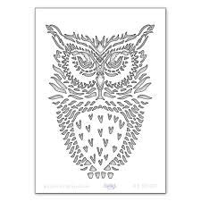 Clarity Stamp - Owl Stencil A5