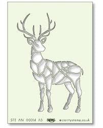 Clarity Stamp - Stag Stencil A5