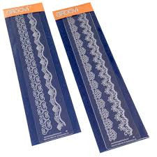 Clarity Stamp - Lace Groovi Border Plates 1 and 2 Set