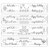 Clarity Stamp - Line Sentiments Groovi Border Plates