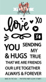 Neat & Tangled - Photopolymer Clear Stamps - Love Notes