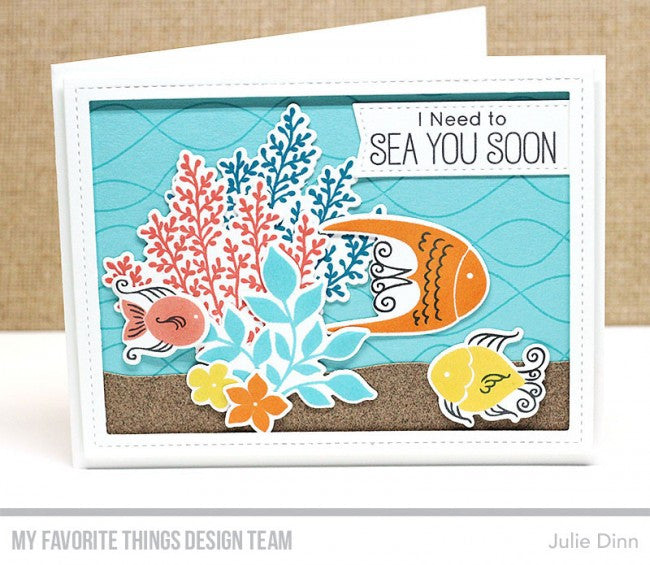 "My Favorite Things - 4""x8"" Clear Stamp Set - Exquisite Ocean"