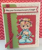 "Pink & Main - Merry & Bright Dies (coordinates with ""Merry & Bright"" Stamp Set)"