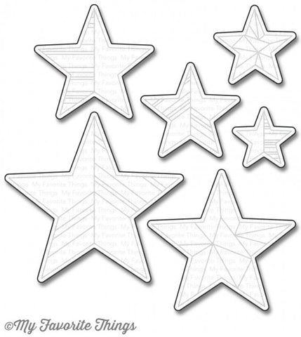 My Favorite Things - Die-Namics - LJD Stars Above (coordinates with LJD Stars Above Stamp Set)