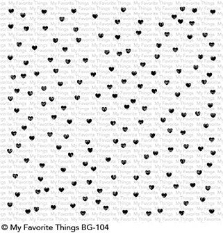 My Favorite Things - BG Scattered Hearts Background