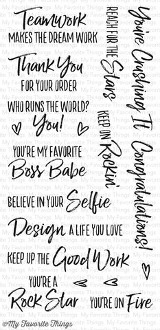 My Favorite Things, Stamps - Boss Babe
