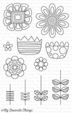 My Favorite Things - Clear Stamp Set - Doodled Blooms