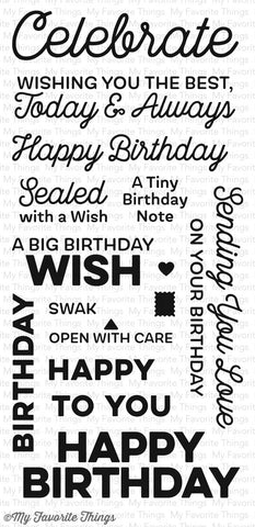 My Favorite Things - Clear Stamp Set - Big Birthday Wishes
