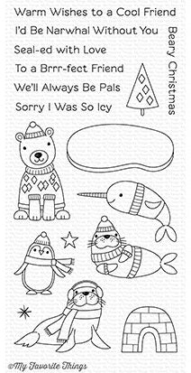 My Favorite Things - Clear Stamp Set - Polar Pals