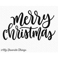My Favorite Things - Clear Stamp Set - Merry Christmas Greeting