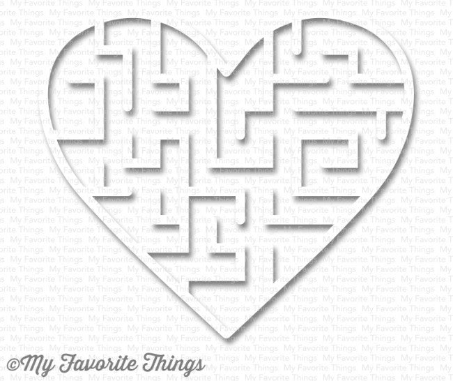My Favorite Things - Heart Maze Shapes - White