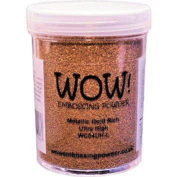 WOW Embossing Powder 160ml - Ultra High Metallic Gold Rich  (Extra Large Jar)