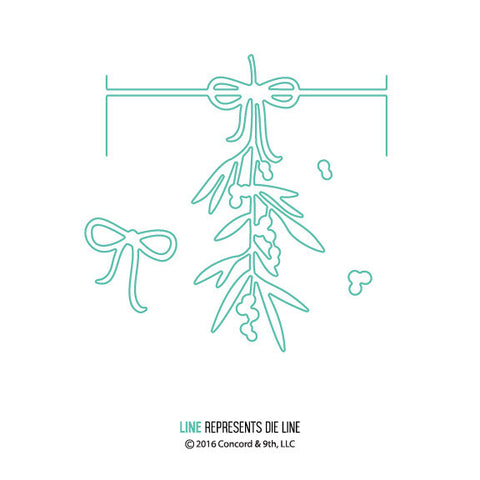 Concord & 9th - Die Set - Mistletoe Card Frame Add-on