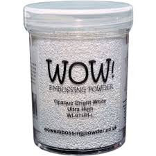 WOW Embossing Powder 160ml - Ultra High Opaque Bright White  (Extra Large Jar)