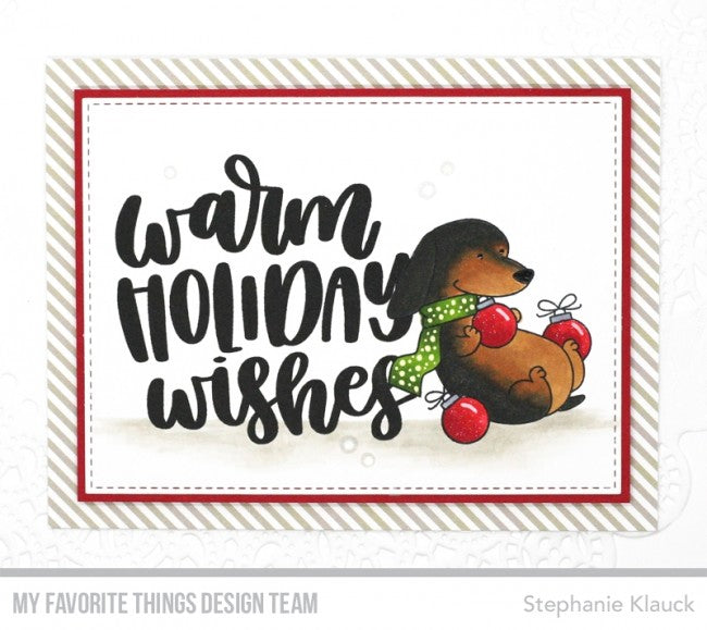 "My Favorite Things - 3""x4"" Clear Stamp Set - Warm Holiday Wishes"