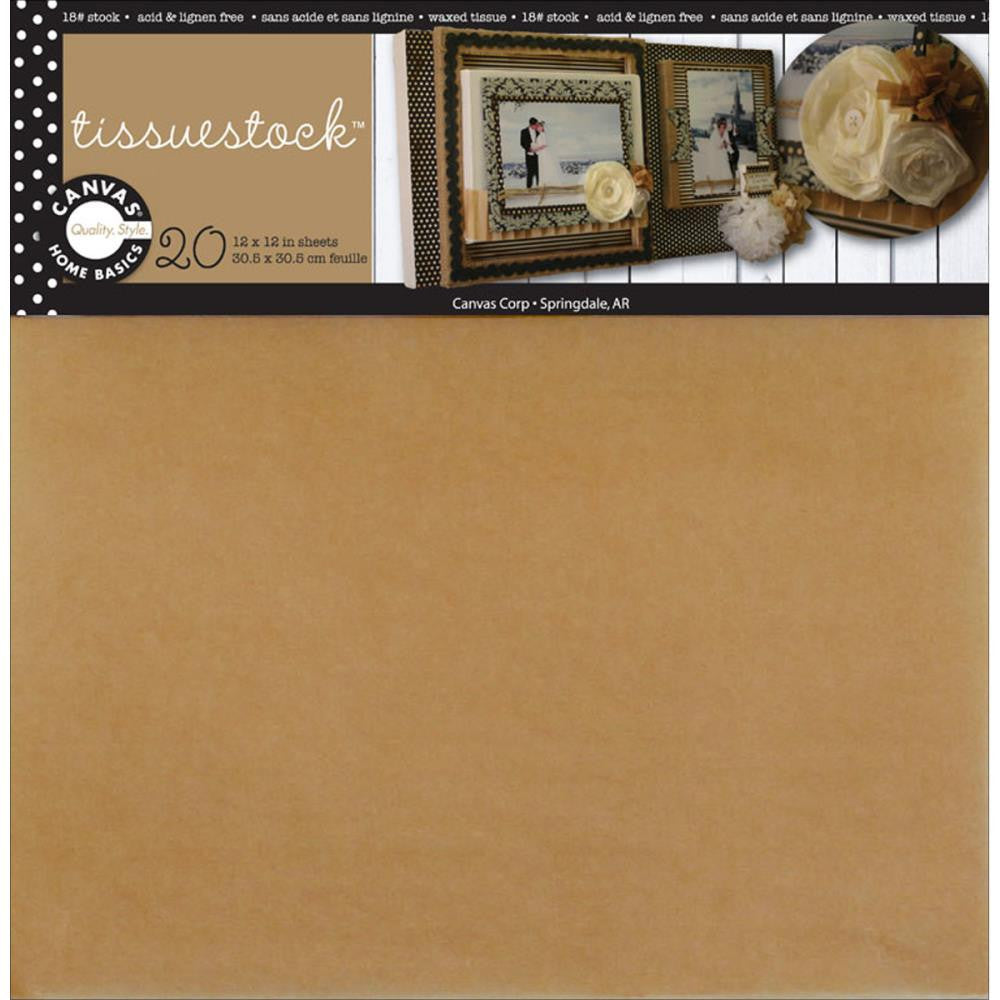 "Canvas Corp Waxed Tissuestock 12""X12"" 20/Pkg - Kraft"