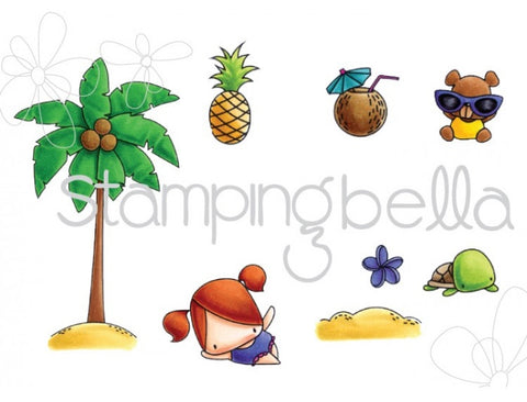 Stamping Bella - Cling Stamp Set - The Littles Palm Tree