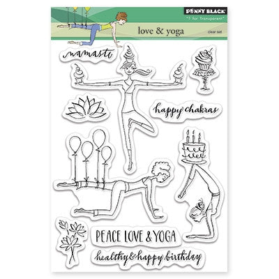Penny Black Clear Stamp Sheet - Love and Yoga