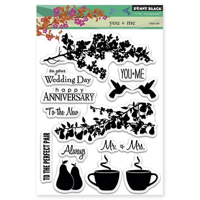 Penny Black Clear Stamp Sheet - You & Me
