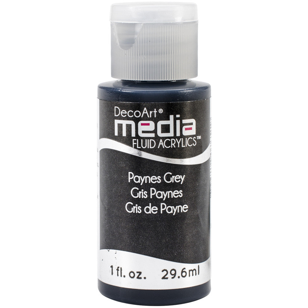 Deco Art Media Fluid Acrylic Paint 1oz - Paynes Gray ( Series 3)