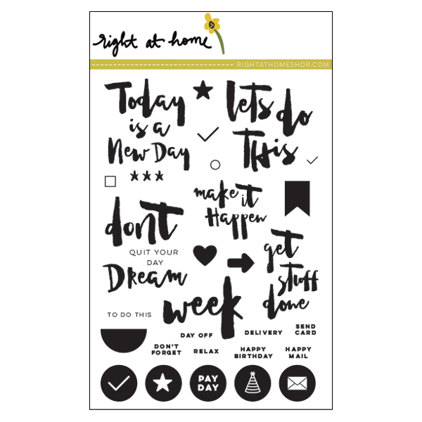 "Right at Home - 4"" x 6"" Stamp Set - Get Stuff Done"