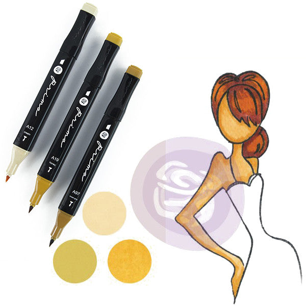Prima Palette Mixed Media Alcohol Marker Set 3 pack - Blonde