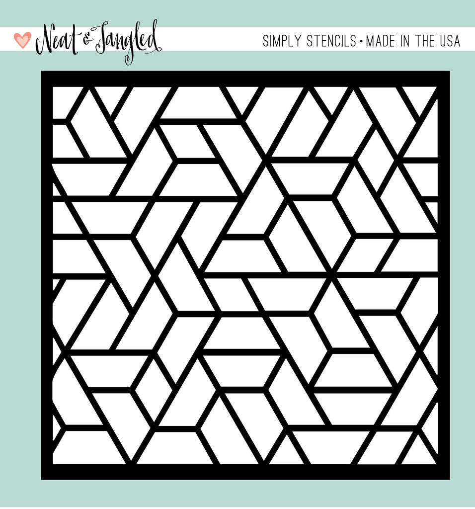 Neat & Tangled - Simply Stencils - Polygon