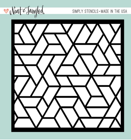 (Pre-Order) Neat & Tangled - Simply Stencils - Polygon