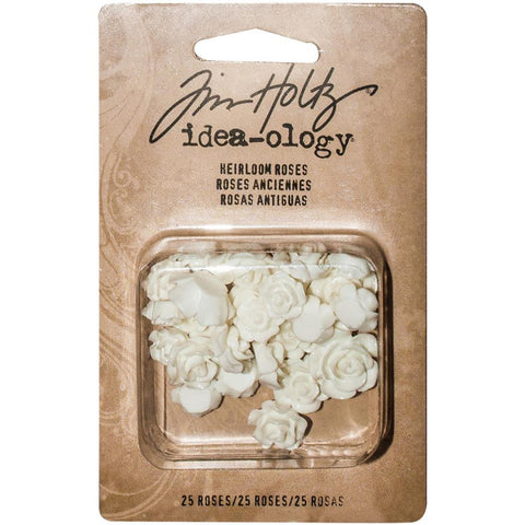 "Tim Holtz Idea-Ology - Heirloom Roses 25/Pkg .25""-.5"""