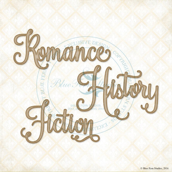 Blue Fern Studios - Chipboard - Romance, History, Fiction