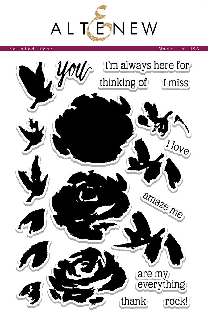 "Altenew - 6""x8"" Clear Stamp Set - Painted Rose"