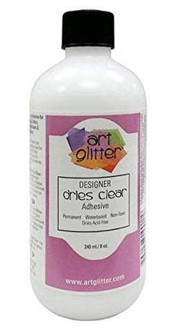 (Pre-Order) Art Glitter Glue, Art Institute Glitter Adhesive Dries Clear 8 oz.