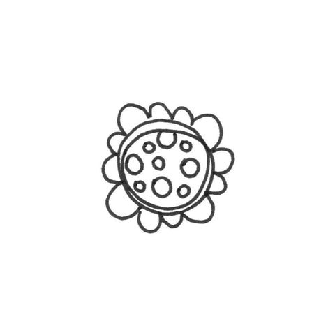 "Joggles Cling Stamp 2""X2"" - Scribble Flower #1"