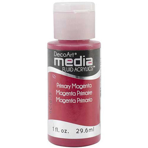 Deco Art Media Fluid Acrylic Paint 1oz - Primary Magenta